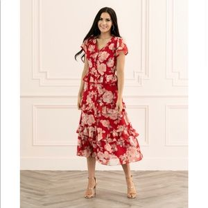 Rachel Parcell Floral Ruffle Shirtdress